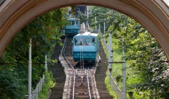 Funicular Railway in Kiev, Ukraine