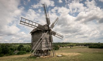 Windmill at Pirogovo, Kiev, Ukraine